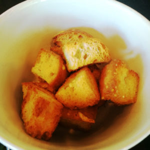 Croutons for Zuppa di Verdura, CASAGIOVE