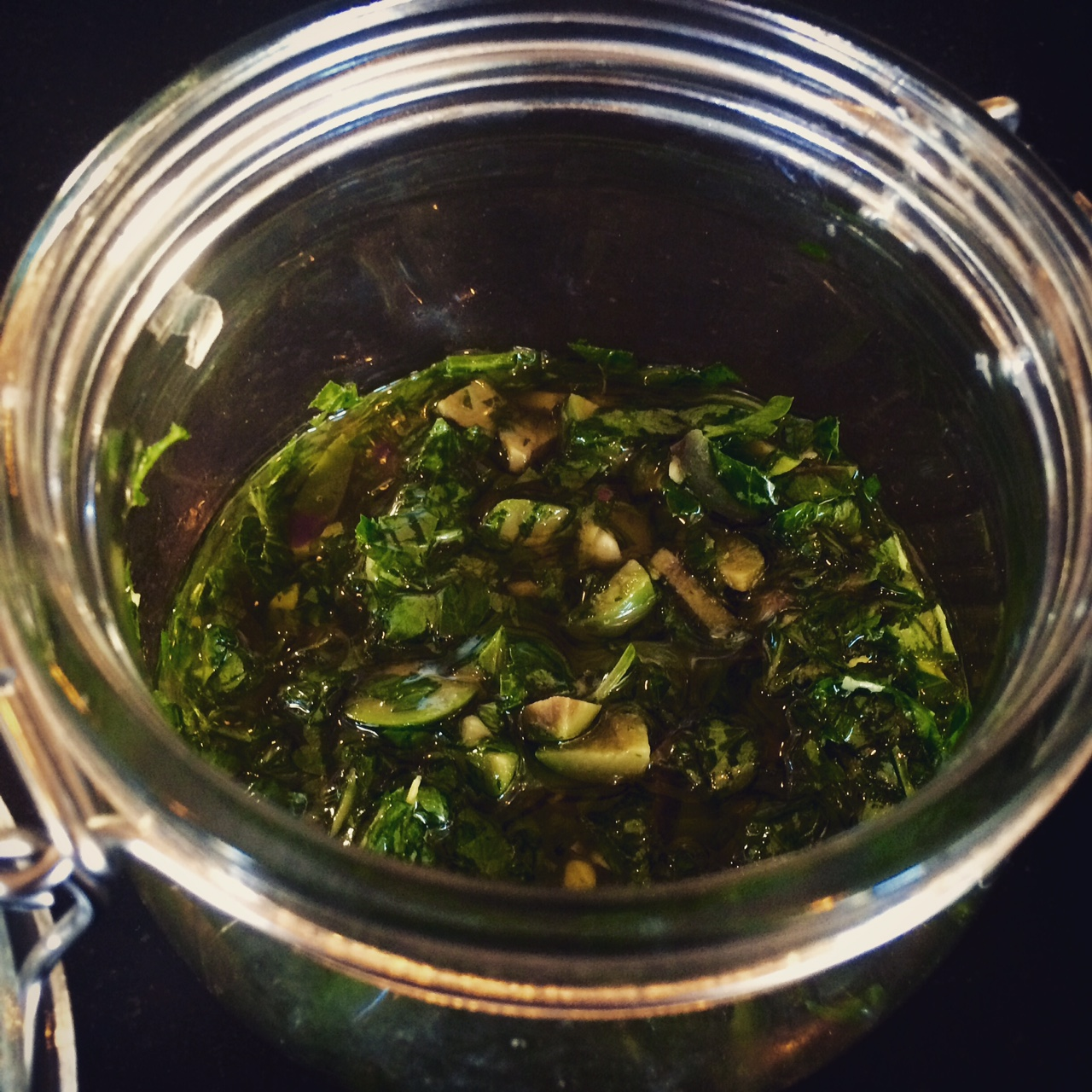 Salsa Verde in a jar by Patricia for Casagiove